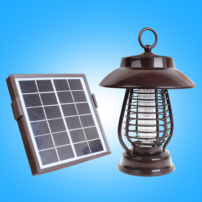 Solar mosquito killer lawn lamp molluscacidal waterproof super bright led street light household outdoor insect repellent portable mosquito insect killer repeller expeller hook type solar ultrasonic w compass outdoor