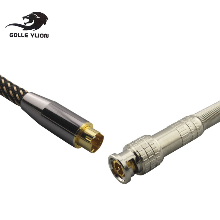 Video Cable 4 Pin Male S-video to BNC Male Female 75-5 Monitor Video Signal Interconnect Cable Q9 Video Security Line OFC 1M 2M