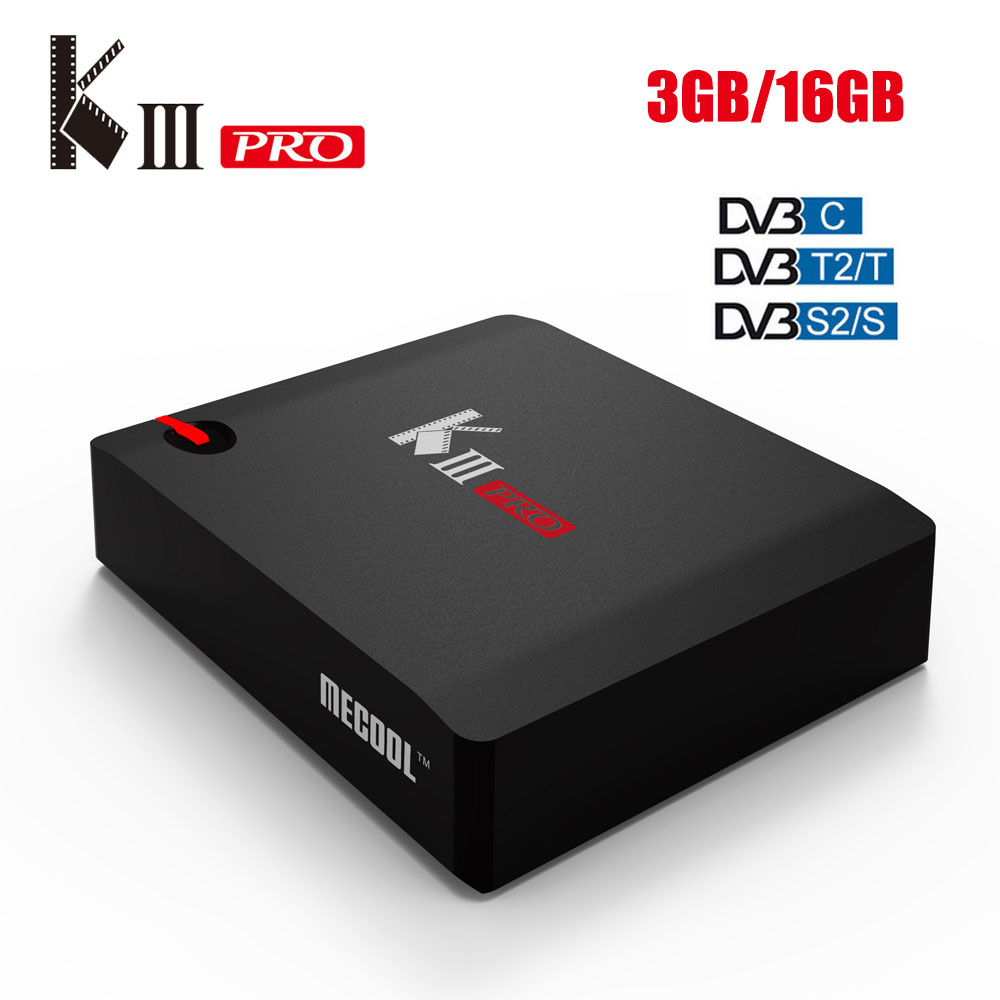 Mecool KIII PRO Amlogic S912 3GB 16GB Android 7 1 2 4K Smart TV Box DVB