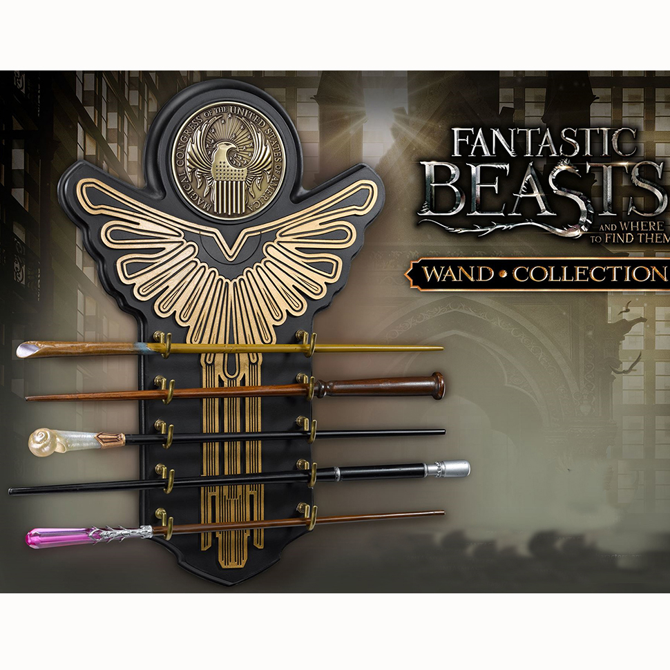 Núcleo de metal Harry Potter fantestic beats calidad Deluxe cos newt queeni seraphina varitas mágicas/stick con caja de regalo de embalaje