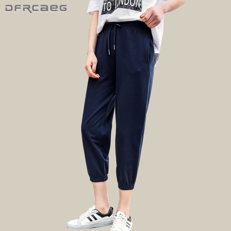 High Quality Women   Capris   Trousers New Arrivals 2018 Summer Loose Cotton Harem   Pants   Casual Sweatpants Femmes Tracksuit Gray