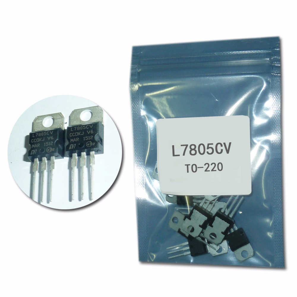 7805 L7805CV TO220 Drie-terminal Voltage Regulator 10 stks/partij