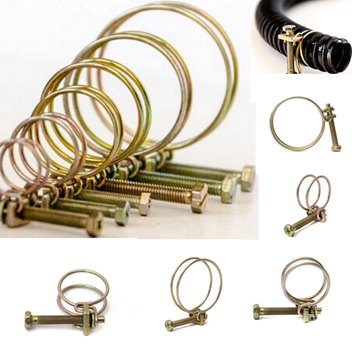 2Pcs Hose Cl& Adjustable Pipe Cl& Double Wire Hose Clip Cl& Plumbing Fastener Hardware 20 Sizes-in Cl&s from Home Improvement on Aliexpress.com ...  sc 1 st  AliExpress.com : big hose clamps - www.happyfamilyinstitute.com