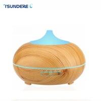 TSUNDERE L 300ml Aroma Diffuser Aromatherapy Wood Grain Essential Oil Diffuser Ultrasonic Cool Mist Humidifier For