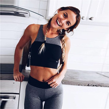 Women's Sports Suits Waistcoat Suit Athletic Running Clothing Female Sportwear Sexy Halter Yoga Clothes Workout Suits