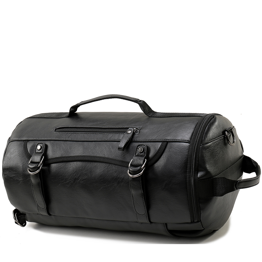 Vormor Personality Large Size Round Leather Mens Travel Bag Fashion Rolling Backpack For Man Famous Brand Duffel In Backpacks From Luggage Bags