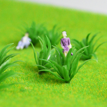 Teraysun 2.5cm Height miniature model shrub artificial grass plastic grasses for sale