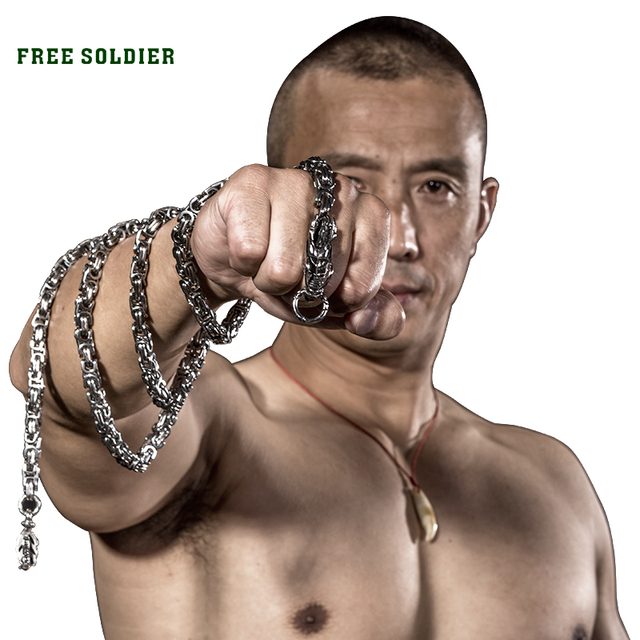 FREE SOLDIER Outdoor Metallic tactical whip non magnetic, corrosion resistance stainless steel whip