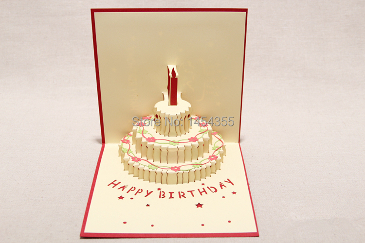 card sculpture Picture More Detailed Picture about 10pcslot – Pop Up Cards for Birthday
