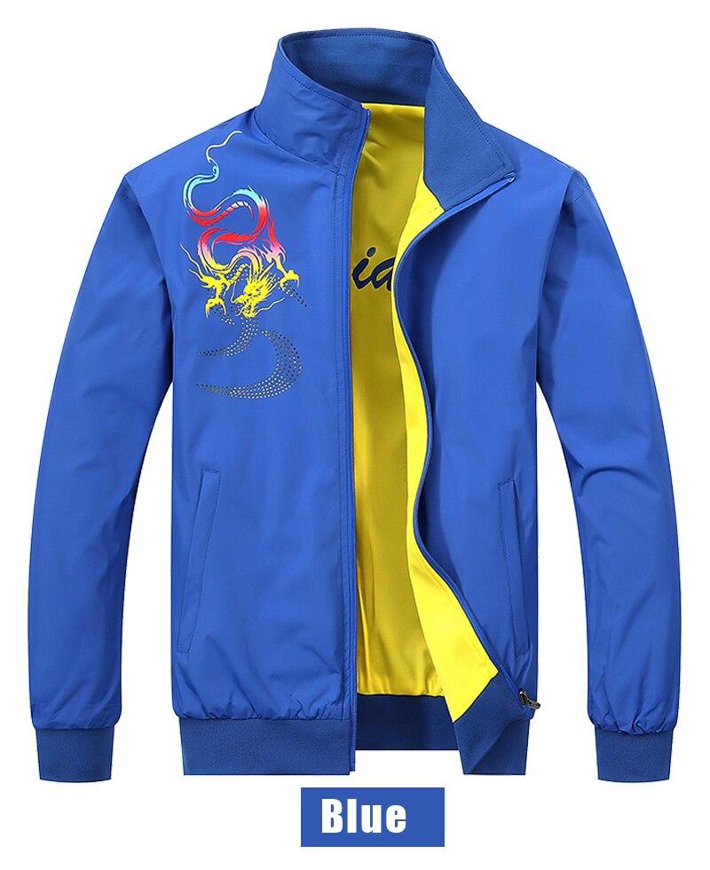 Men's Clothing Peilow 2018 Spring Autumn Fashion Dragon Pattern Print Casual Double Sided Wear Jacket Men Overcoat New 5xl Jackets Mens Jacket Jackets & Coats