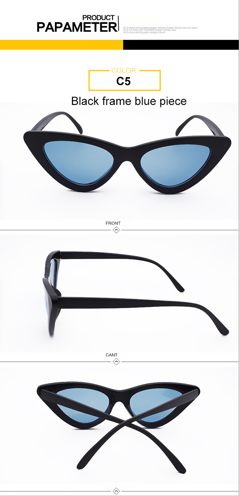 HTB1PowBnrsTMeJjSszhq6AGCFXa7 - WHO CUTIE 2018 Brand Designer Black Cat Eye Sunglasses Women Cool Small Cateye Frame Sun Glasses Fashion UV400 Shades WG-008