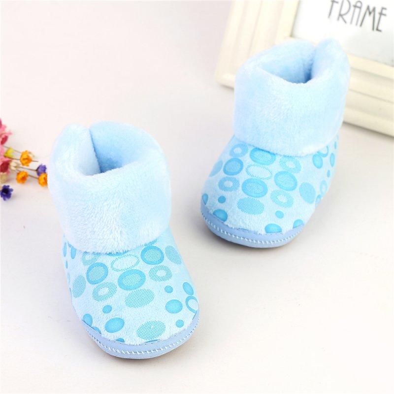 bcb6a44e Niños bebé Niñas Niños Botas de nieve niño infantes antideslizante Otoño  Invierno warm fleece Zapatos cremallera prewalker 6-12 m