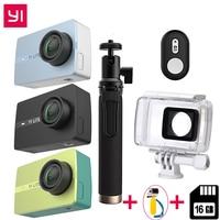 Международный для Xiaomi YI Lite действие камера 16MP реальные Спортивная камера 4k Bluetooth Wi Fi 2