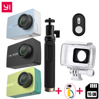 International For Xiaomi YI Lite Action Camera 16MP Real 4K Sports Camera Bluetooth WIFI 2 Touch LCD Screen EIS 150 Degree Lens