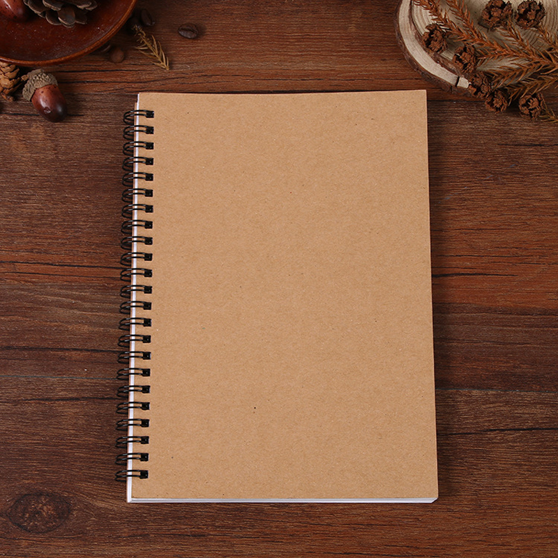 Creative Retro A5 Business Coil Kraft Notebook Vintage Spiral Sketch Notebook Soft Copybook Stationery School Office Supplies like a virgin secrets they won t teach you at business school