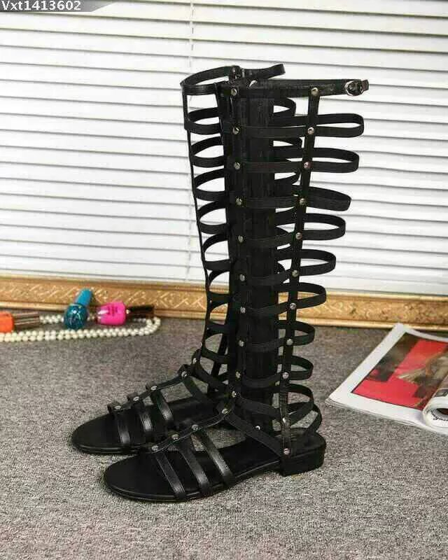 Fashion Trend Open Toe Flat Summer Sandal Boots Rivets Embellished Gladiator Strappy Sandals Vocation Beach Party Shoes Women vankaring women summer boots leather sandals new 2018 fashion flat heel open toe rhinestones casual shoes woman gladiator sandal