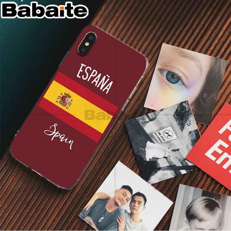 غطاء هاتف من Babaite أسباني على شكل علم كامب نو مطاطي ناعم لهاتف أبل آيفون 8 7 6 6S Plus X XS max 5 5s SE XR