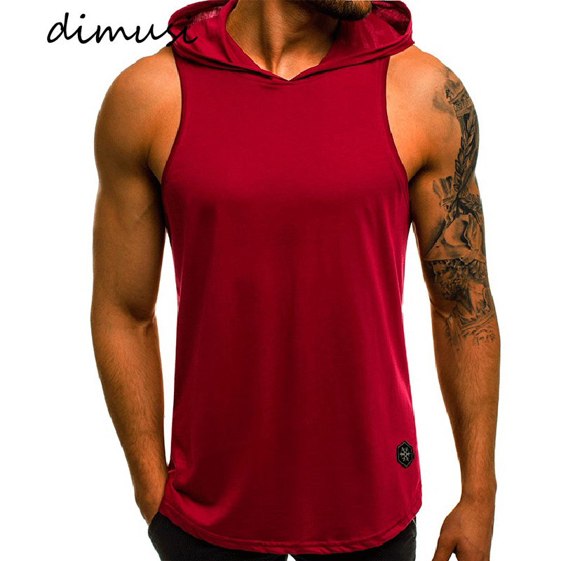 DIMUSI Summer Mens Vests Fashion Mens Breathbale Sleeveless Jackets Male Outwear Vests Hoodies Men Thin Waistcoats Clothing 3XL