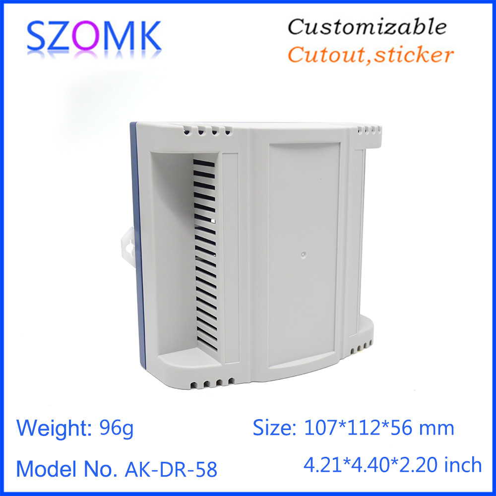 szomk plastic din rail enclosure PLC plastic electronics instrument housing din rail device box (10)