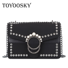 TOYOOSKY Famous Brand Retro Crossbody Bag Small Women Shoulder Bag Diamond Nubuck Leather Luxury Handbags Women Bags designer