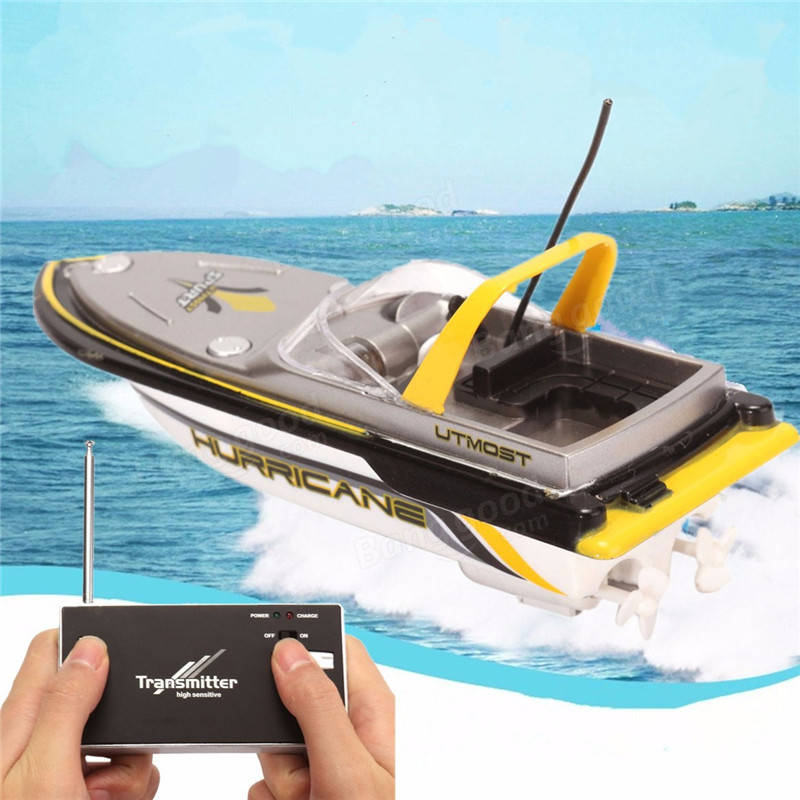 1PCS Electric RC Radio Remote Control Super Mini Speed Boat Dual Motor Kids Gift Toy happy cow 777 218 remote control mini rc racing boat model
