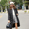 ESTILO 2016 Top Quality Winter White Hooded Women Down Jackets Long Coat Parkas Thickening Warm Female Clothes Black Gray Color