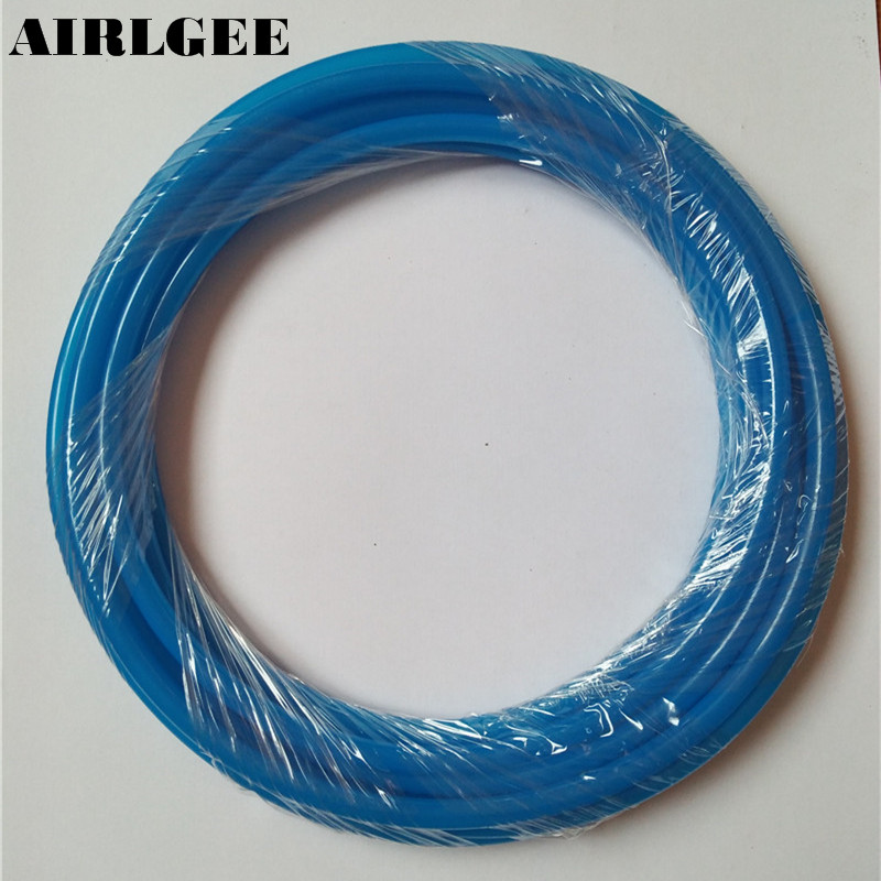 цены 6mm x 4mm PU Flexible Pneumatic Tube Air Tubing Hose 4M Length B
