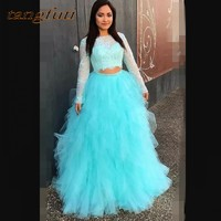 Long Sleeve Lace Quinceanera Dresses Prom Party Online Princess Ball Gown for Prom Sweet Sixteen 16 Dresses vestidos de 15 anos