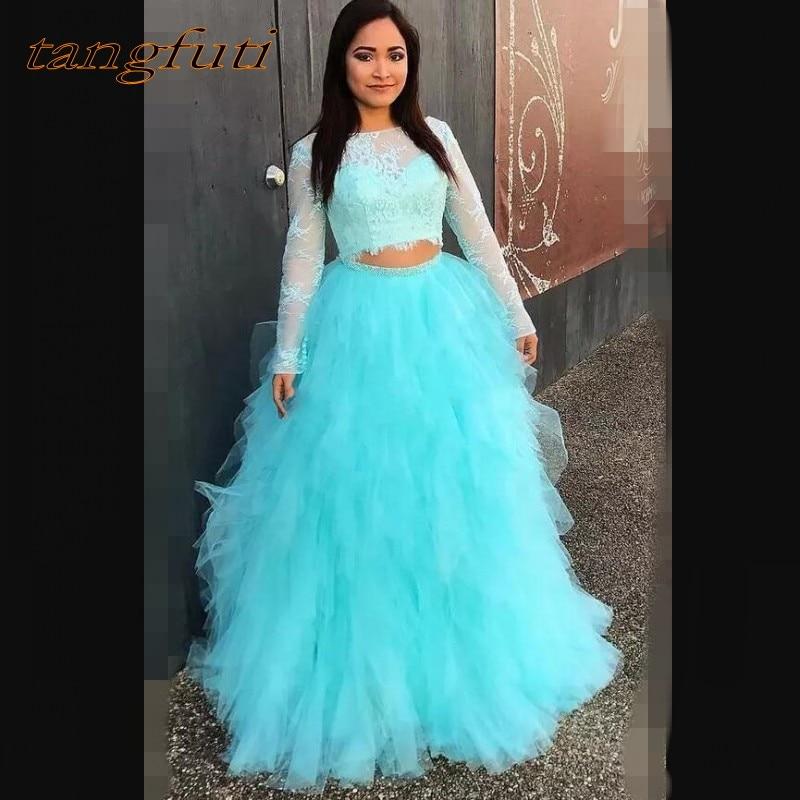 Manches longues dentelle Quinceanera robes de bal de promo en ligne princesse robe de bal pour bal doux seize 16 robes vestidos de 15 anos