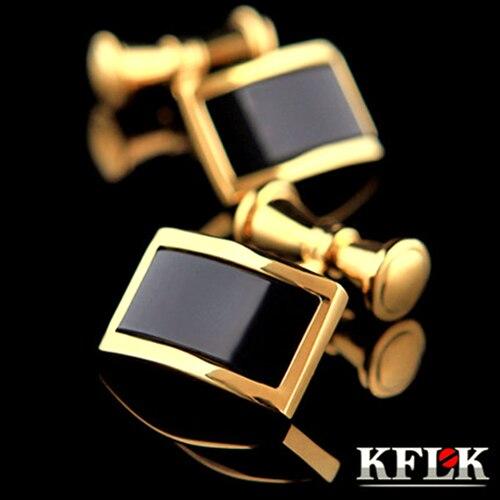 d449e6ae4086b Kflk الفاخرة الساخن قميص للرجال ماركة مجوهرات الكفة أزرار الذهب سلسلة عالية  الجودة الزفاف abotoaduras