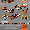 Customized Team Graphics  Backgrounds Decals 3M Classic Stickers For KTM SX F E XC F W SXF125 200 250 300 400 450 520 525 530