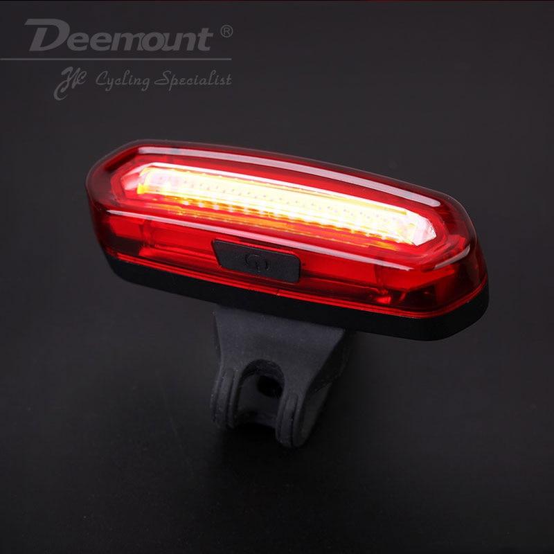 Deemount COB Rück Bike rücklicht Sicherheit Warnung USB Wiederaufladbare Fahrrad Rücklicht Comet LED Radfahren Fahrrad Licht