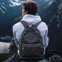 Muzee Retro Men USB Design Backpack Casual Canvas Bag Fashion Backpack Student bag Male Laptop Backpack Travel bag