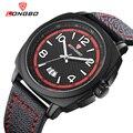 Moda marca longbo chegada nova série de esportes de lazer couro genuíno calendário homens relógios de pulso 80215