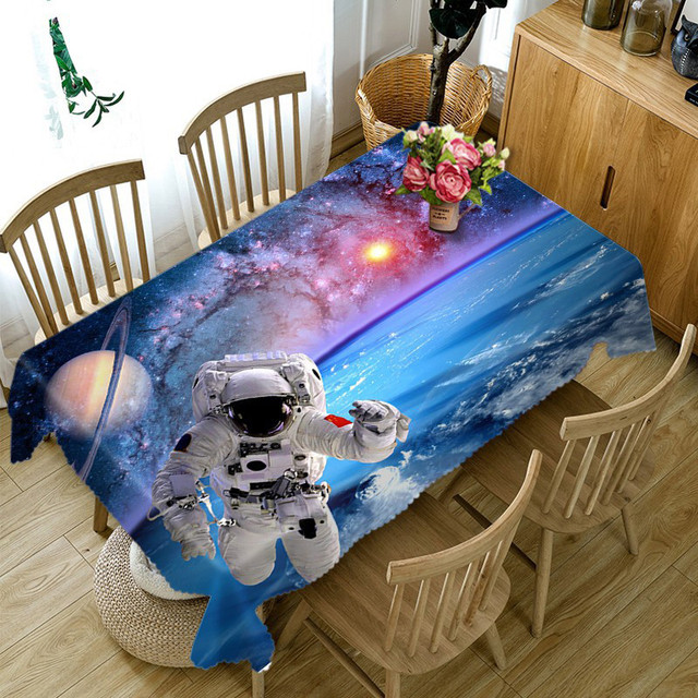Round Outdoor Tablecloth Cosmological Series Rectangular Waterproof - Outdoor picnic table covers