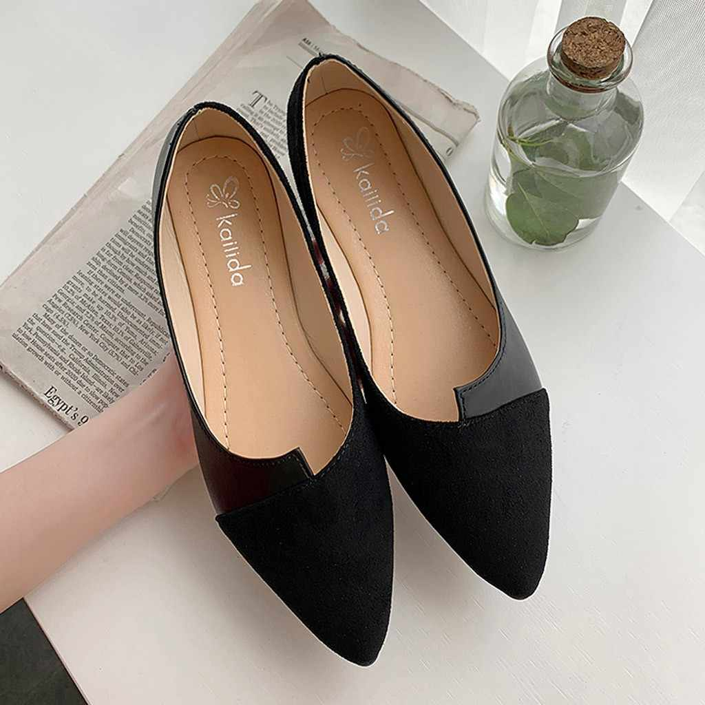 2019 Flat Shoes Women Sweet Flats Shallow Women Boat Shoes Slip On Ladies