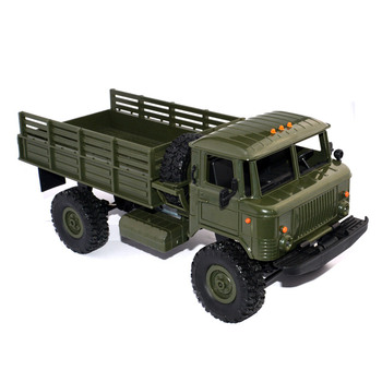 Kids Gift WPL B-24 1: 16 RTR 2.4G Military RC Car 4 WD Remote Control Crawler Kids Toys Birthday Gift