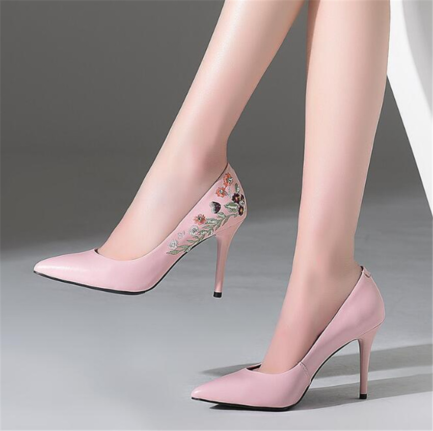 ZOUDKY 2018 sul-coreanos estilo sapatos Único boca Rasa cabeça Afiada Alta-sapatos de salto alto sapatos de salto Fino sexy