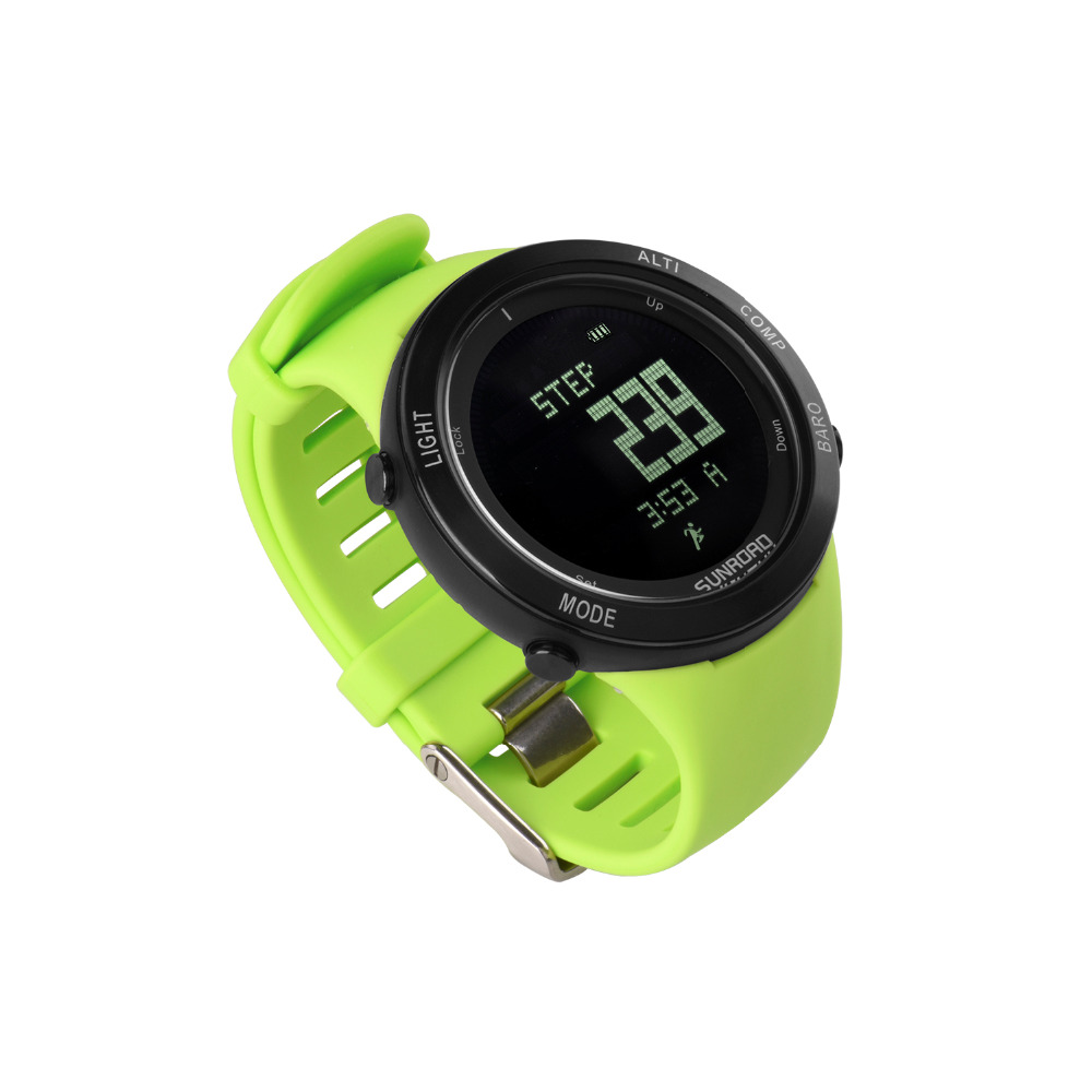 Watches Digital Watches Sunroad New Men Heart Rate Watch Compass Pedometer Altimeter 5atm Waterproof Digital Clamping Charging Sports Watches Relogio