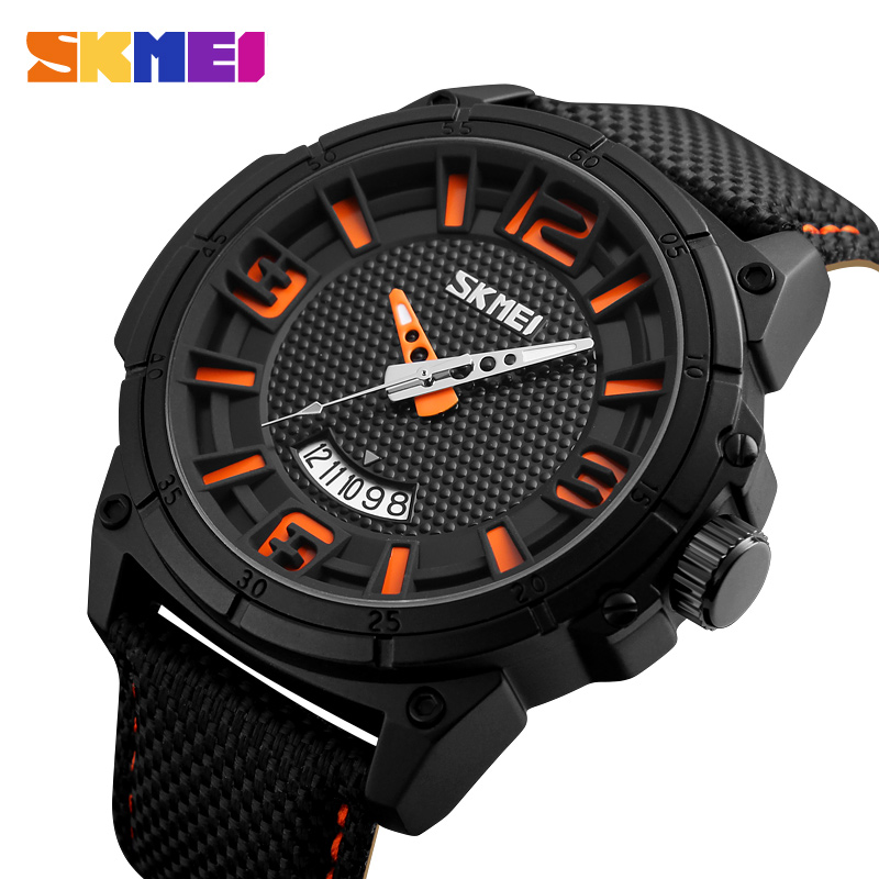 SKMEI Men's Casual Quartz Watch Men Luxury Brand Sport Style Watch Man Waterproof Clock Male Fashion Date Relogio Masculino 2016 men quartz watch skmei top brand luxury fashion casual watch date male genuine leather sport wristwatches relogio masculino