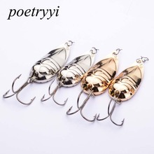 1PC 2018 Spoon Lures Silver/Gold  Colors Fishing Tackle with 15G Metal Baits Hooks 30