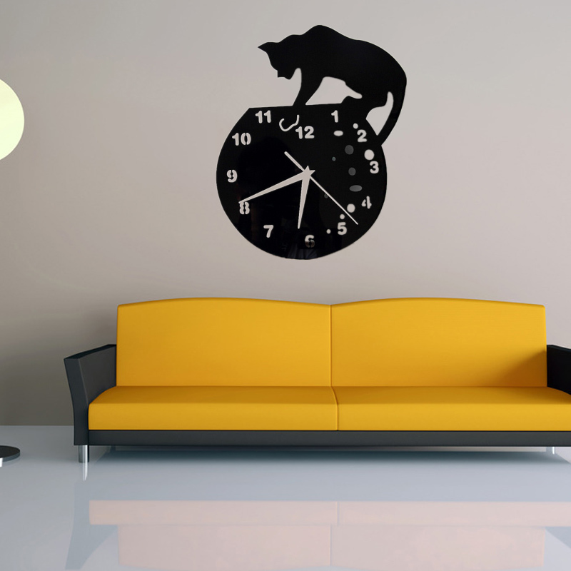2017 real sale wall clock acrylic mirror 3d large decorative ...
