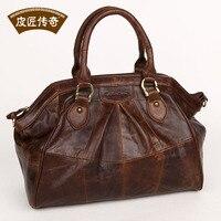 FASHION COOL GENUINE LEATHER Women S Handbag Messenger Bag Fashion Female Ol Elegant Genuine Leather Bag