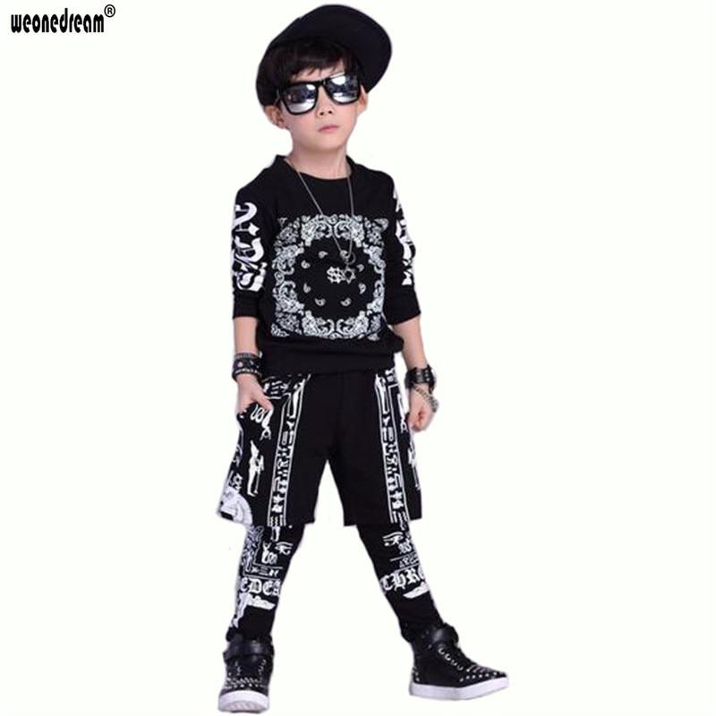 buy popular e768d 1308b US $17.37 45% di SCONTO|Weonedream nuova primavera autunno bambini  abbigliamento hip hop ragazzi vestiti delle ragazze serie prestazioni  bambini tuta ...