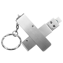 OTG USB Flash Drive 2in1 Waterproof Shockproof UDP Chip Metal Dual Micro-Thumb Drive Memory Stick for Smartphones PC Computers