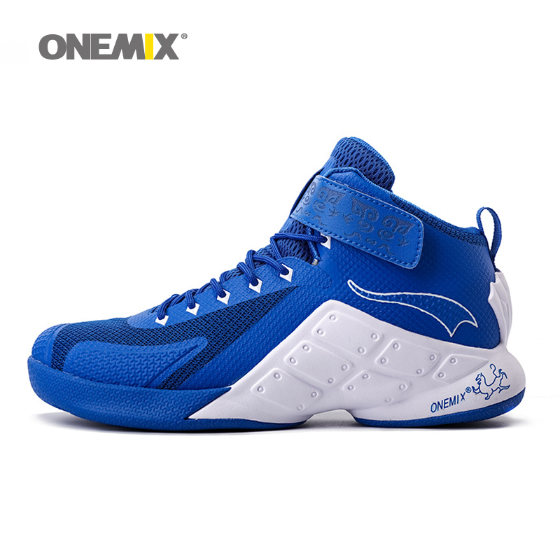 ФОТО ONEMIX Newest Men Basketball Shoes 2016 Male Ankle Boots Anti-slip outdoor Sport Sneakers Plus Size EU 39-46 Free Shipping