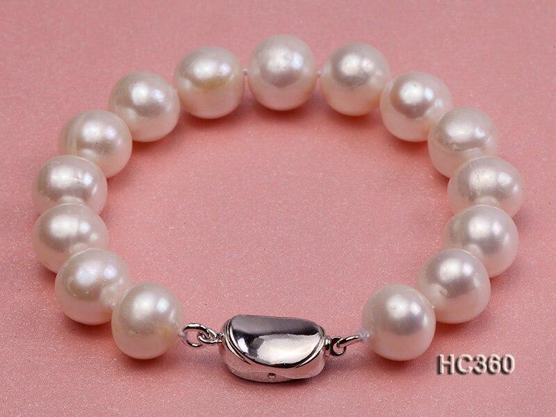 ユニークな真珠ジュエリー店 AAA 10 11 ミリメートルホワイト淡水真珠のブレスレット 19 センチ S925 シルバークラスプ  グループ上の ジュエリー & アクセサリー からの ブレスレット & バングル の中 1
