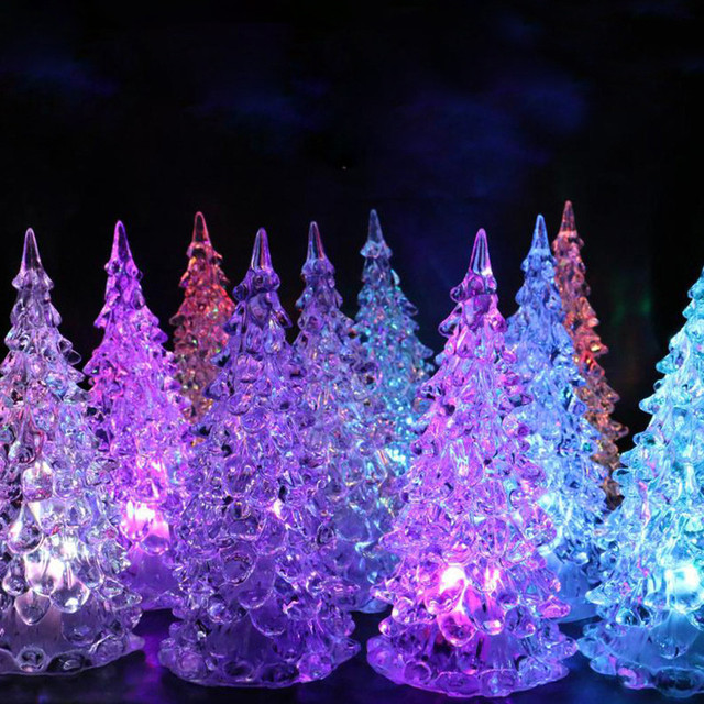 1pcs christmas xmas tree color changing led light lamp home party decoration for kids christmas light