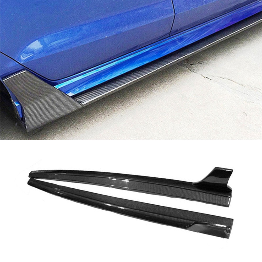 Carbon Fiber Side Skirts Bumper Kits for Audi A3 Sline S3 Sedan 4 door Not A3 Standard 2014 2015 2016 Car Styling 4 x pieces carbon fiber car side door bumper edge protector trim car styling for ford fiesta st