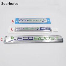 Ecoboost-calcomanía emblema para Ford Focus Kuga, Soarhorse para coche de Escape, puerta trasera, pegatina de sustitución, F-150